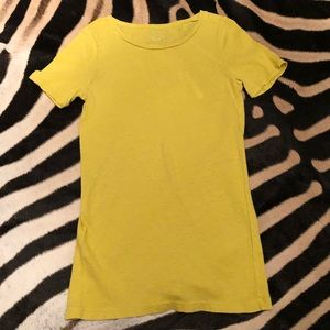 Jcrew Porter T Muted Chartreuse Green